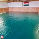 Edzőterem teljes szőnyeg burkolat