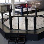 MMA ringtakaró ponyva dekorálással
