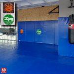 Edzőterem védőburkolatának logózása